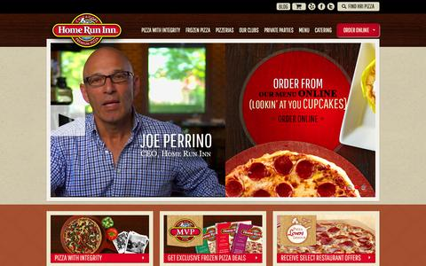 Screenshot of Home Page homeruninn.com - Chicago's Best Pizza | Chicago Pizza Restaurants | Home Run Inn - captured Sept. 30, 2014