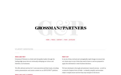 Screenshot of About Page grossmanandpartners.com - About Us | Grossman & Partners - captured Oct. 31, 2014