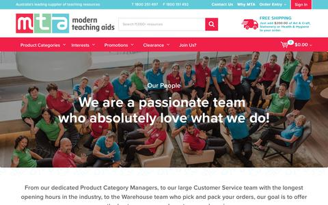 Screenshot of Team Page teaching.com.au - Our People - captured Oct. 20, 2017