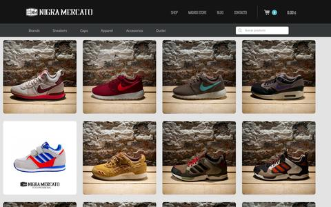 Screenshot of Products Page nigramercato.com - Sneakers online & Streetwear en nigramercato.com - Compra online - captured Nov. 5, 2014