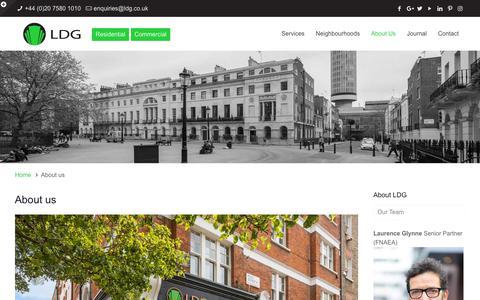 Screenshot of About Page ldg.co.uk - About Us | LDG West End Estate Agents - captured Sept. 25, 2018