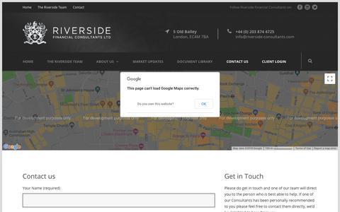 Screenshot of Contact Page riverside-consultants.com - Contact Us - Riverside Financial Consultants - captured Sept. 24, 2018
