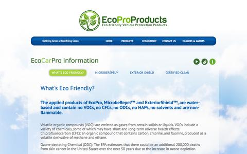 Screenshot of Products Page ecoproproducts.com - EcoProProducts - Eco-Friendly Vehicle Protection Products - captured Oct. 27, 2014