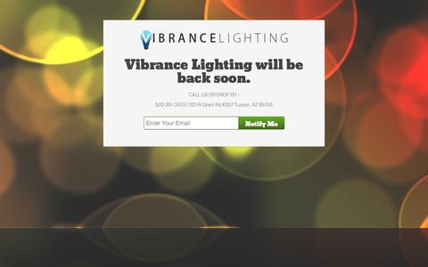 Screenshot of Contact Page vibrancelighting.com - Tucson, AZ LED & HID - Vibrance LED - captured Oct. 26, 2014