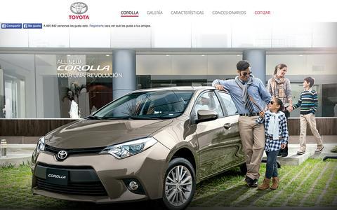 Screenshot of Home Page toyotacorolla.com.pe - Nuevo Corolla - captured Sept. 12, 2015
