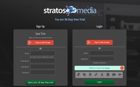 Screenshot of Login Page stratosmedia.com - Stratos Media - captured Dec. 16, 2016