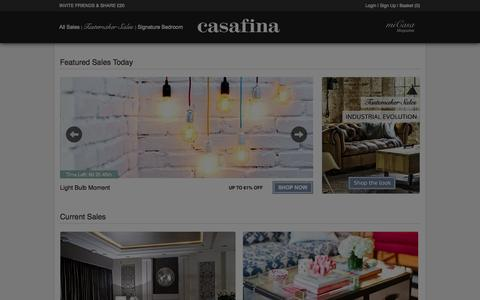 Screenshot of Home Page Signup Page Login Page casafina.com - Casafina | Be inspired. Discover a wide range of luxury furniture and homewares - captured Sept. 19, 2014