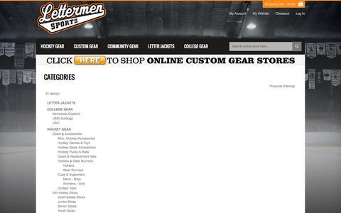 Screenshot of Site Map Page lettermensports.com - Site Map - captured Sept. 29, 2014