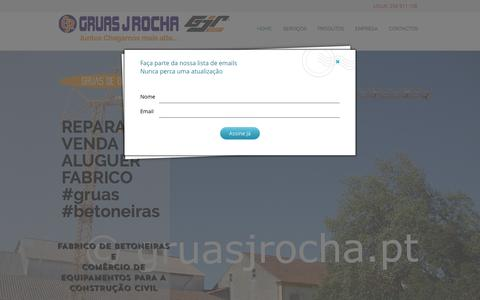 Screenshot of Home Page gruasjrocha.pt - Gruas J Rocha | Aluguer de Gruas | Gruas Torre | Fabricante Betoneiras - captured Sept. 19, 2017