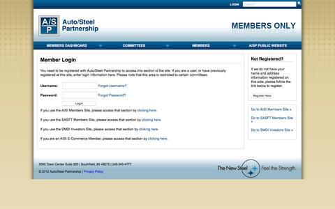 Screenshot of Login Page a-sp.org captured Nov. 21, 2016
