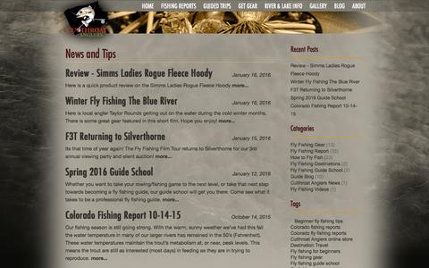 Screenshot of Blog fishcolorado.com - Fly Fishing In Colorado: Reports, News & Tip from the Pros - captured Feb. 2, 2016