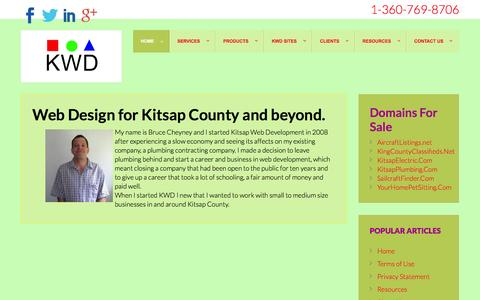 Screenshot of About Page kitsapwebdevelopment.com - Kitsap Web Development, websites and webdesign services. - captured Jan. 9, 2016