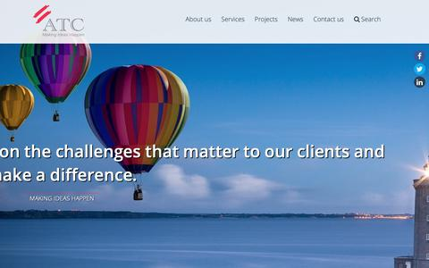 Screenshot of Home Page atc-consultants.com - International consulting company - ATC Consultants - captured Oct. 2, 2018