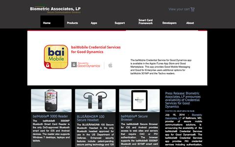 Screenshot of Home Page biometricassociates.com - Biometric Associates, LP - captured Sept. 13, 2014