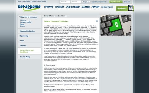 Screenshot of Terms Page bet-at-home.com - bet-at-home.com – Online Sports Betting, Casino, Games, Poker - captured Sept. 18, 2014