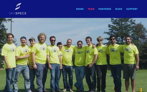 Screenshot of About Page skyspecs.com - Team — SkySpecs - captured Sept. 22, 2015