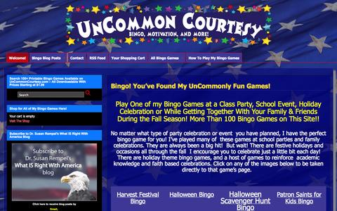 Screenshot of Home Page uncommoncourtesy.com - UnCommon Courtesy - captured Sept. 30, 2014