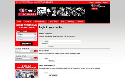 Screenshot of Login Page sophio.com - ATDRIVE AUTOPARTS EUROPEAN CAR PARTS / BMW PARTS / MERCEDES BENZ PARTS / MINI COOPER PARTS / PORSCHE PARTS / AUDI PARTS / VOLKSWAGEN PARTS / LAND ROVER PARTS / SAAB PARTS / VOLVO PARTS - captured Nov. 2, 2014