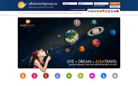 Screenshot of Home Page albatravelgroup.biz - .:: Albatravel Group ::. Your Online Travel Wholesaler! - captured Jan. 21, 2016