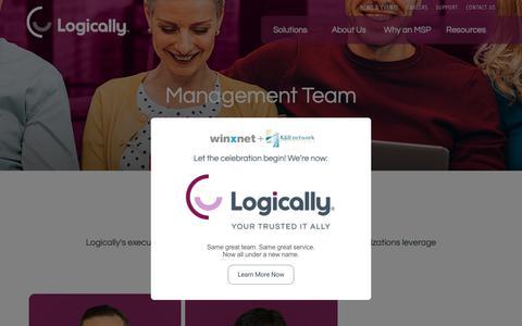 Screenshot of Team Page logically.com - Management Team | Logically - captured April 4, 2019