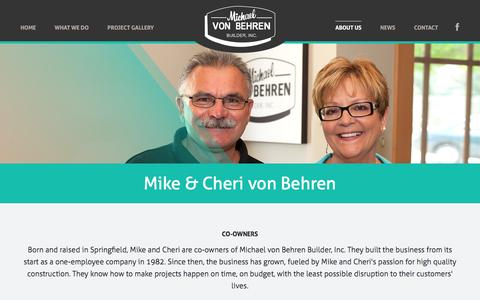 Screenshot of Team Page mvbbuilder.com - Meet the MVB Builder Team - Michael von Behren Builder, Inc. - captured Feb. 13, 2016