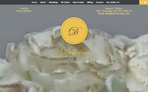 Screenshot of Home Page About Page Contact Page deliciaecakes.com - Cake Shop In Mumbai, Buy Or Order Online Custom Cakes & Pastries-Deliciae Cakes - captured Feb. 1, 2016