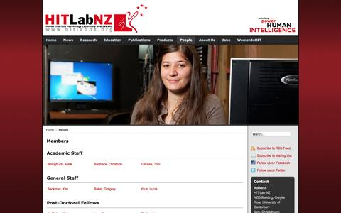 Screenshot of Team Page hitlabnz.org - HITLabNZ - Members - captured Dec. 6, 2015