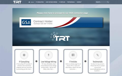 Screenshot of Home Page technologyresponse.com - Colorado Front Range IT Outsourcing - captured Oct. 7, 2014