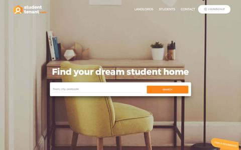 Screenshot of Home Page studenttenant.com - StudentTenant.com: Find Student Accommodation in the UK - captured Aug. 28, 2017