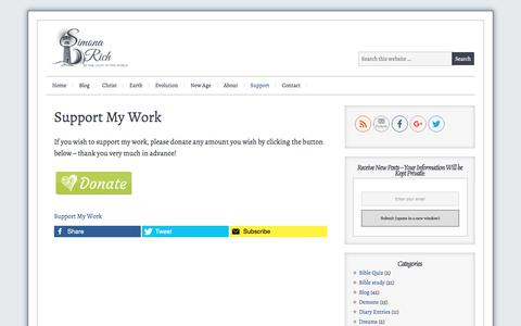 Screenshot of Support Page simonarich.com - Support My Work - captured June 25, 2017