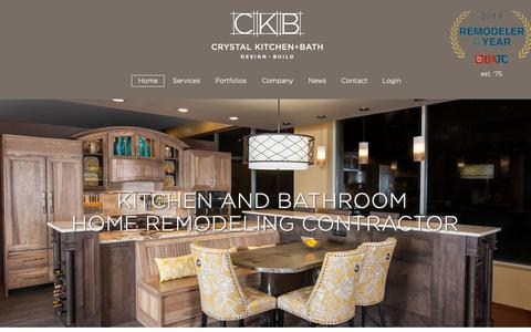 Screenshot of Home Page crystalkitchen.com - Bathroom Kitchen + Home Remodeling Contractor Minneapolis MN - captured Sept. 30, 2018