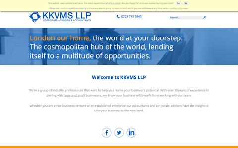 Screenshot of Home Page kkvms.com - Accountants in London - KKVMS LLP - London Accountants - captured Nov. 27, 2016