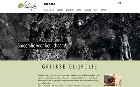 Screenshot of Home Page olimato.com - Griekse olijfolie kopen uit Kalamata (Peloponnesos) - captured Oct. 19, 2018