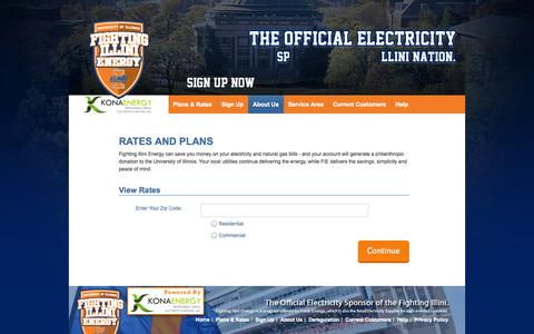 Screenshot of Signup Page fightingillinienergy.com - Dependable Illinois Electricity - Fighting Illini Energy - Enter Zip Code - captured Sept. 30, 2014