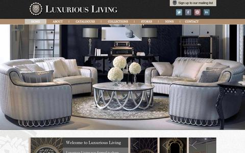 Screenshot of Home Page coleccionalexandra.co.uk - Luxurious Living   Luxury Furniture & Interior Design - captured Oct. 10, 2014
