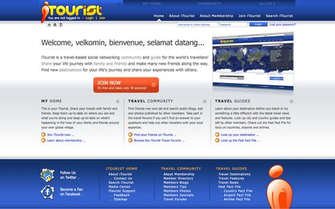 Screenshot of Home Page itourist.com - iTourist.com | Research and share your travels - photos, stories, tips and blogs! - captured June 4, 2016