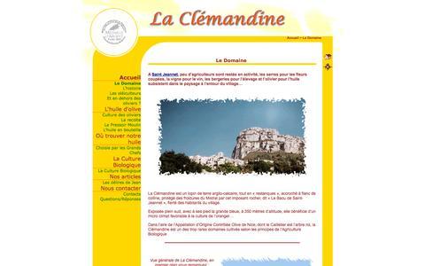 Screenshot of Home Page laclemandine.com - La Clemandine - Le Domaine - captured Oct. 16, 2015