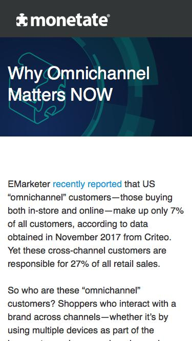 Why Omnichannel Matters NOW | Whitepaper from Monetate