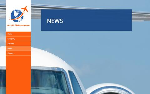 Screenshot of Press Page jetairmaintenance.com - News - Jet Air Maintenance - captured Oct. 6, 2014