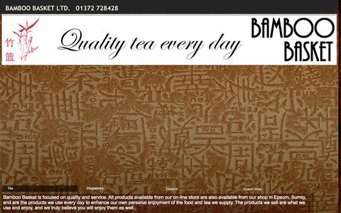 Screenshot of Home Page bamboo-basket.co.uk - Bamboo Basket Ltd. - captured Sept. 29, 2015