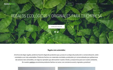 Screenshot of Home Page gettingreen.com.ar - GETTINGREEN - gettingreen - captured July 18, 2018