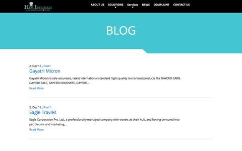 Screenshot of Blog heminfotech.com - BLOG | Hem Infotech - captured July 13, 2016