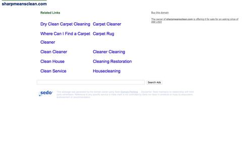 sharpmeansclean.com - This website is for sale! - cleaning carpet cleaning air duct cleaning Sharp Carpet Air Duct Cleaning service services water Resources and Information.