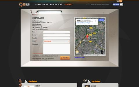 Screenshot of Contact Page 3dduo.com - Contact  |  3DDUO - captured Sept. 25, 2014