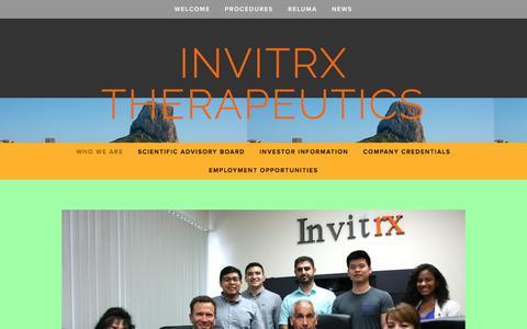 Screenshot of Team Page invitrx.com - Who we are —  Invitrx Therapeutics - captured Nov. 26, 2016
