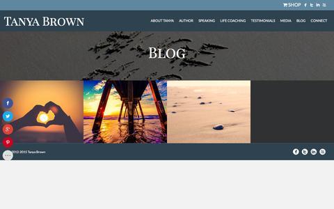 Screenshot of Blog tanyabrown.net - Blog | Tanya Brown - captured Feb. 17, 2016