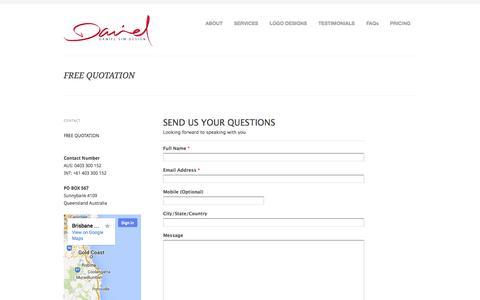 Screenshot of Pricing Page danielsim.com - FREE QUOTATION | Award Winning & Affordable Logo Design Specialist, Graphic Design Sydney, Brisbane, Melbourne, Adelaide, Australia | Logo Designer - captured Oct. 5, 2014