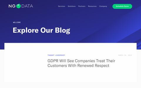 Customer Experience Management Blog – NGDATA – NGDATA