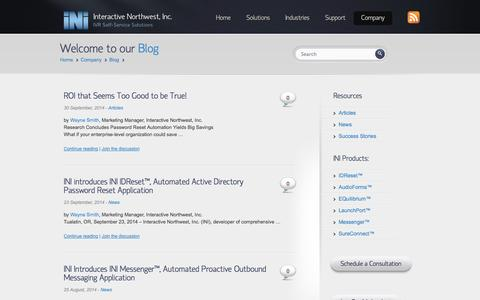 Screenshot of Blog interactivenw.com - Blog Archives - Interactive Northwest, Inc. - captured Oct. 6, 2014