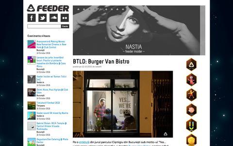 Screenshot of Home Page feeder.ro - Feeder - captured Oct. 12, 2015